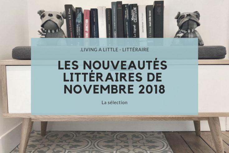 Les nouveautés littéraires de novembre 2018